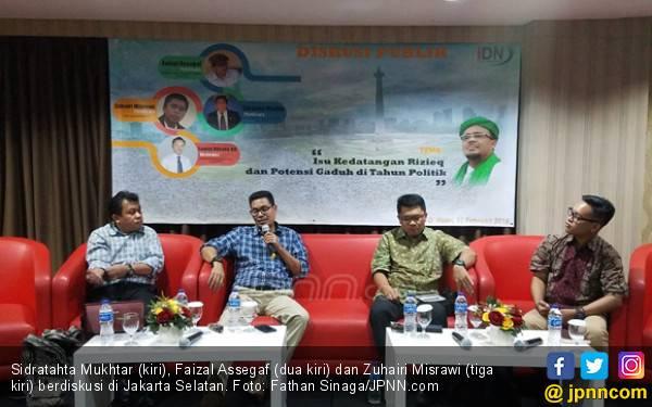 Faizal Assegaf: Cek Rekening Eggi Sudjana - JPNN.com