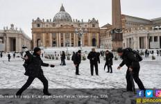Begini Wajah Roma Usai Hujan Salju Terlebat - JPNN.com