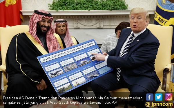 Tawa Lepas Pangeran Mohammed Usai Membeli Senjata dari Trump - JPNN.com
