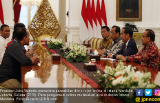 Jokowi Menerima Perwakilan Driver Online - JPNN.com