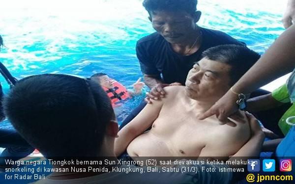 Snorkeling 10 Menit, WN Tiongkok Kejang lalu Tewas - JPNN.com