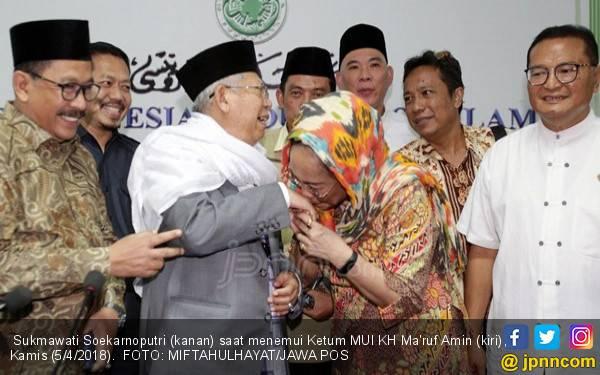 Sukmawati Cium Tangan Kiai Maruf Amin, Proses Hukum Lanjut - JPNN.com