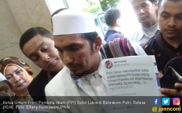 Dakwah Jadi Alasan Ketum FPI Mangkir Panggilan Polisi - JPNN.com