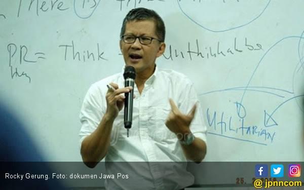 Bikin Heboh Panggung, Rocky Gerung Masuk Dalam Daftar 80 Nama Calon Menteri Prabowo - JPNN.com