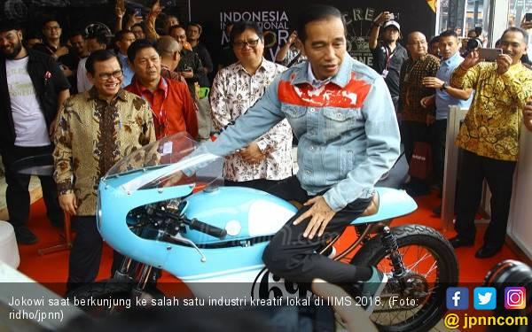 Tampil Gaul di IIMS, Jokowi Picu Inovasi Industri Kreatif - JPNN.com