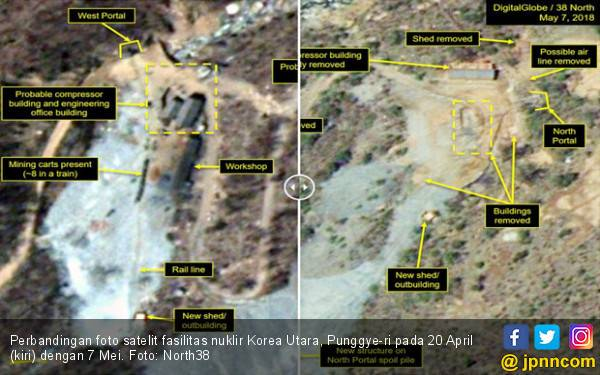 Akhirnya, Fasilitas Nuklir Korut Sudah Rata dengan Tanah - JPNN.com