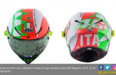 Helm Baru Valentino Rossi Spesial di Laga Kandang - JPNN.com