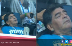Diego Maradona Tertidur saat Argentina Unggul dari Nigeria - JPNN.com