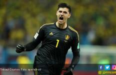 Thibaut Courtois Matikan TV pada Menit 94 Prancis vs Kroasia - JPNN.com