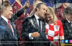 Foto-Foto Kemesraan Presiden Kroasia dan Presiden Prancis - JPNN.com