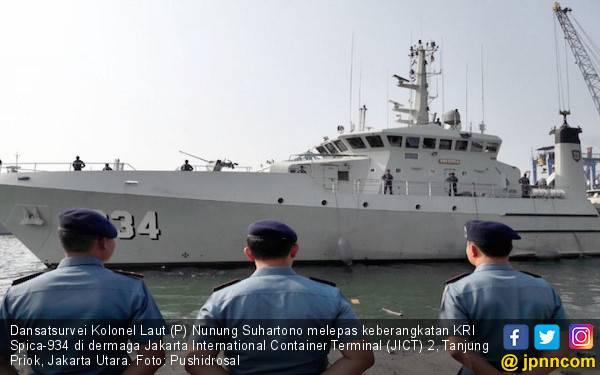 KRI Spica Gelar Survei untuk Pemutakhiran Peta Laut Jawa - JPNN.com