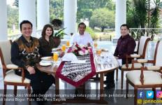 Jokowi, HT, Grace dan Diaz Tersenyum di Meja Makan Istana - JPNN.com