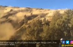 Mencekam, Video Detik-detik Longsoran di Gunung Rinjani - JPNN.com
