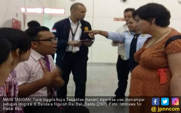 Bergaya Tak Tahu Overstay, Turis UK Gampar Staf Imigrasi - JPNN.com