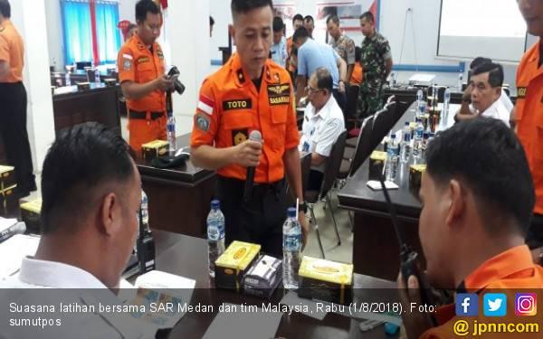 Tanggap Bencana, SAR Medan dan Malaysia Latihan Bersama - JPNN.com