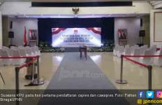 Suasana Hari Pertama Pendaftaran Capres di KPU, Sepiiiiii - JPNN.com