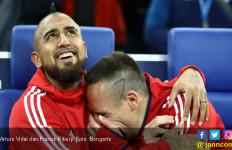 Betapa Sedihnya Franck Ribery Ditinggal Arturo Vidal - JPNN.com