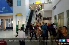 Lombok Gempa Lagi, Turis Menangis Berlarian Keluar Bandara - JPNN.com