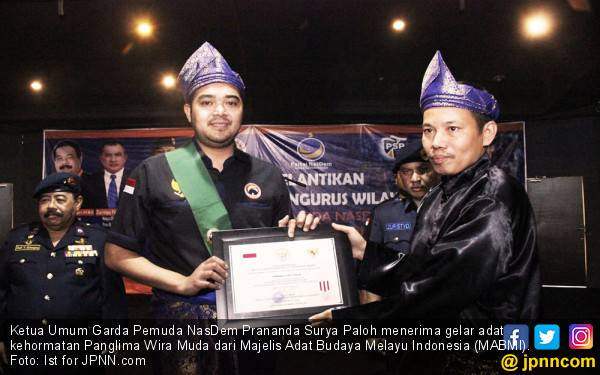 Prananda Paloh Sandang Gelar Kehormatan Panglima Wira Muda - JPNN.com