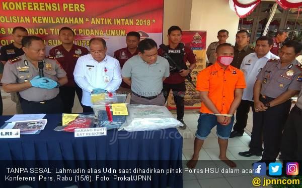 Kronologis Udin Penggal Tetangga Lalu Nyanyi Indonesia Raya - JPNN.com