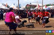 Keseruan Emak-emak Mengejar Anak Babi di Perayaan HUT RI - JPNN.com