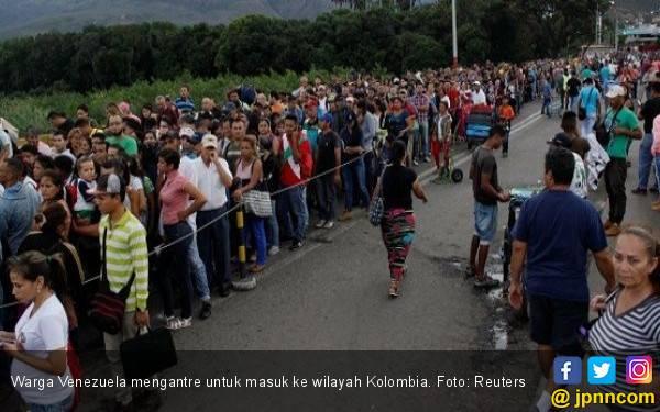 Bantuan AS Tiba, Warga Venezuela Olok-Olok Maduro - JPNN.com
