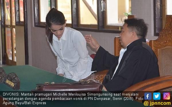 Vonis 2,5 Tahun Penjara untuk Si Cantik Eks Pramugari Garuda - JPNN.com