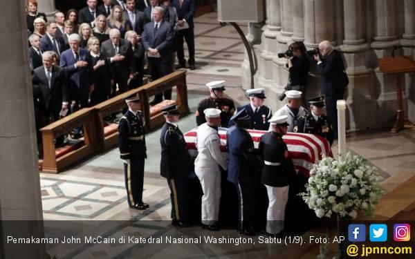 Sindiran untuk Donald Trump di Pemakaman John McCain - JPNN.com
