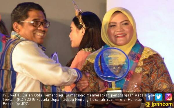 Pengakuan Bergengsi untuk Kiprah Bu Neneng Pimpin Kab Bekasi - JPNN.com