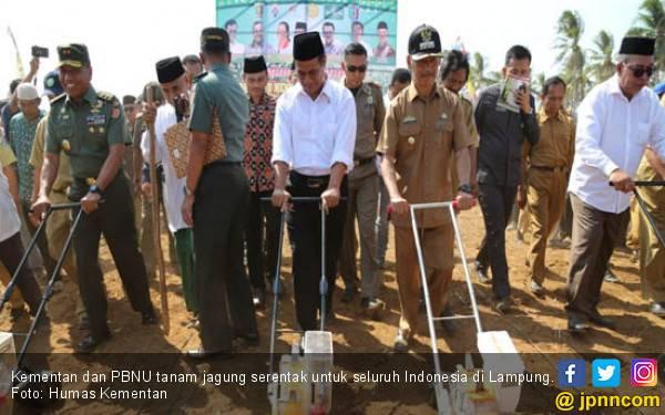 Gandeng PBNU, Mentan Tanam Jagung Serentak di Indonesia - JPNN.com