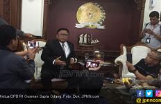 Hari Terakhir Jabat Ketua DPD, OSO Terima Kopri PMII - JPNN.com