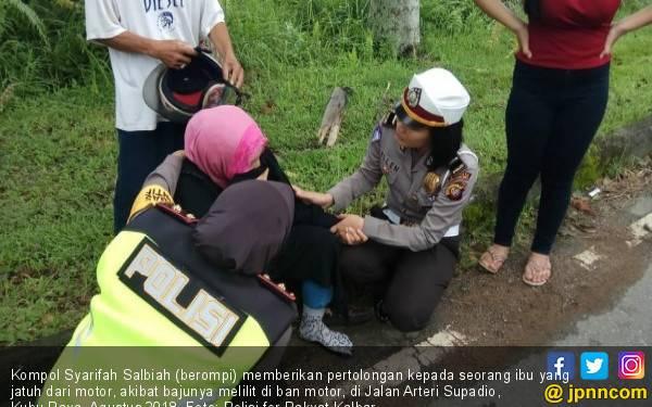 Tentang Kompol Syarifah Salbiah, Polwan Berhati Mulia - JPNN.com