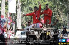 Zohri Cs Peraih Medali Asian Games Diarak Keliling Mataram - JPNN.com