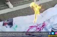 Aksi Turunkan Jokowi Diwarnai Bakar Boneka Pocong dan Foto - JPNN.com