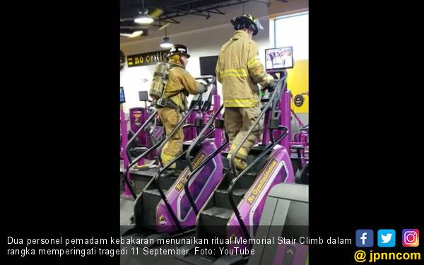 Naik Turun Tangga, Ritual Pemadam Kebakaran AS setiap 9/11 - JPNN.com