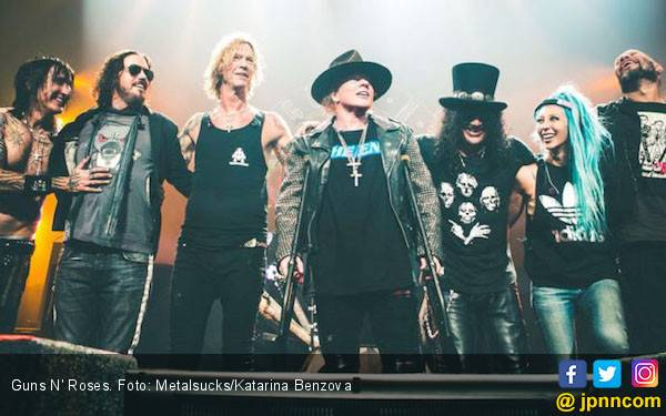 Siapa Band Pembuka Konser Guns N' Roses di Jakarta? - JPNN.com