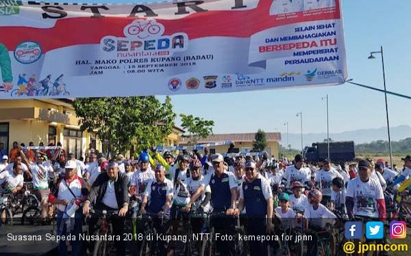 2.000 Peserta Sepeda Nusantara 2018 Padati Polres Kupang - JPNN.com