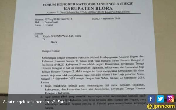 Guru Honorer K2 Blora Mogok Kerja Sepekan - JPNN.com