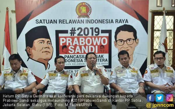 Satria Gerindra Deklarasikan #2019PrabowoSandi - JPNN.com