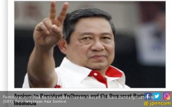 Asia Sentinel Cabut Artikel soal SBY, Begini Reaksi PD - JPNN.com