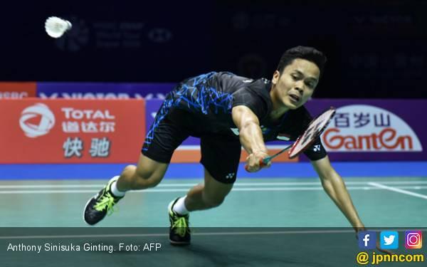 Ginting Dipukul Ka Long di Babak Pertama BAC 2019 - JPNN.com