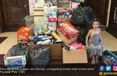 Flo Kecil Kumpulkan Donasi untuk Korban Florence - JPNN.com