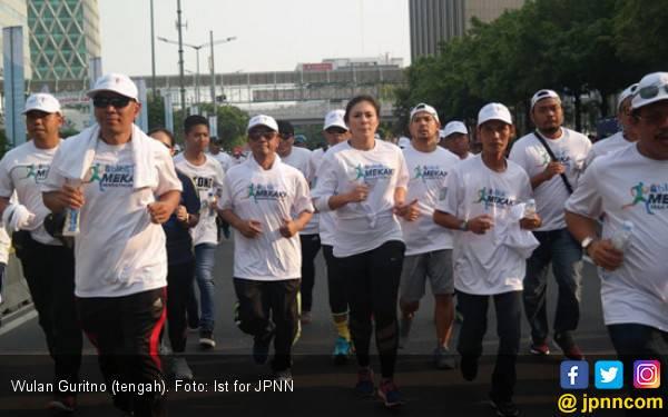 Ikut Mekaki Marathon, Wulan Guritno Semangati Warga Lombok - JPNN.com