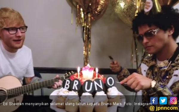 Bruno Mars Sewa Ed Sheeran untuk Bernyanyi Selamat Ultah - JPNN.com