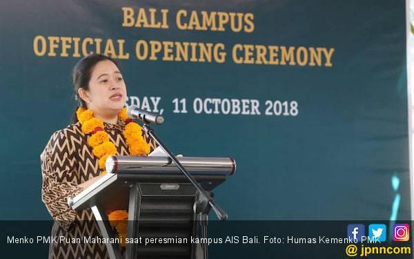 Menko Puan Maharani Resmikan Kampus AIS Bali - JPNN.com