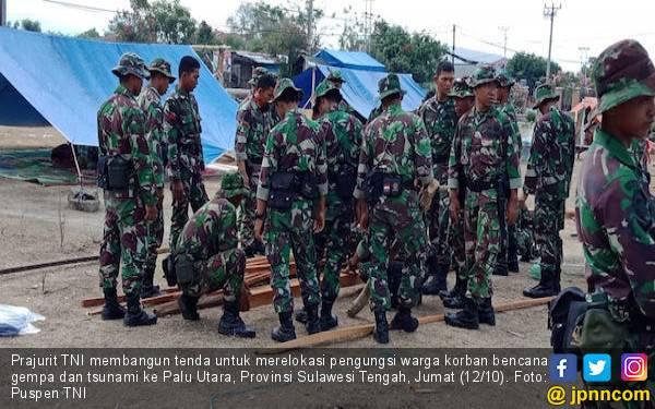 TNI Merelokasi Warga Korban Gempa dan Tsunami ke Palu Utara - JPNN.com