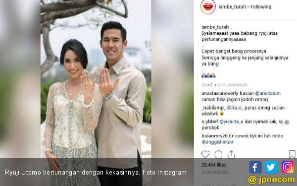 Mantan Pacar Ariel Tantum Resmi Bertunangan - JPNN.com