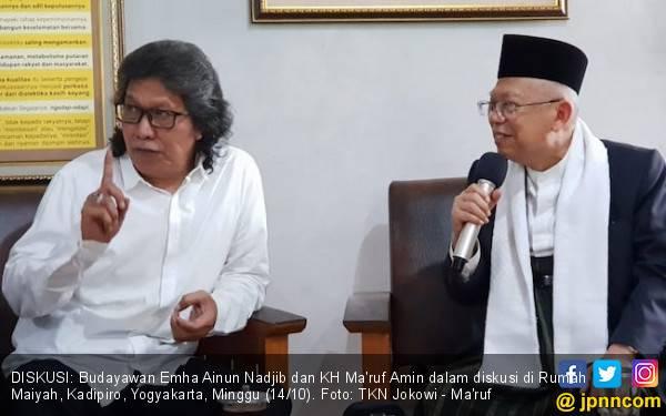 Saran Cak Nun & Sabrang ke Kiai Ma'ruf soal Hoaks Marak - JPNN.com