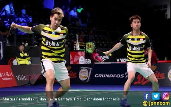 Duel Penuh Smes, Marcus / Kevin Kalahkan Si Ganteng Korea - JPNN.com
