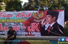 Spanduk Ucapan Terima Kasih pada Jokowi Tersebar di Jalan - JPNN.com